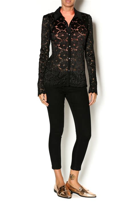 black lace blouse yoana baraschi black lace blouse from new jersey by by