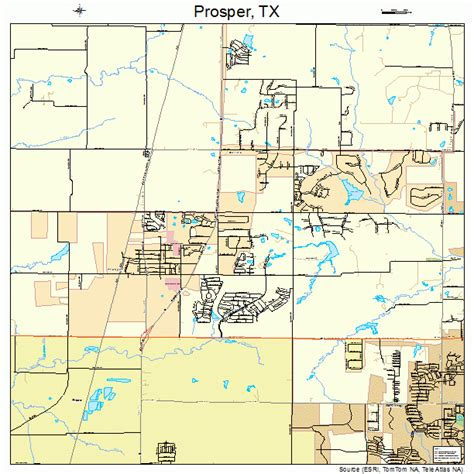 map of prosper texas prosper texas map 4859696