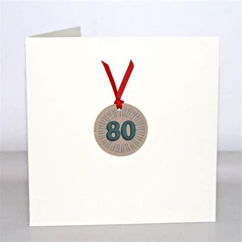 Handmade 80th Birthday Cards - handmade 80th birthday card by chapel cards