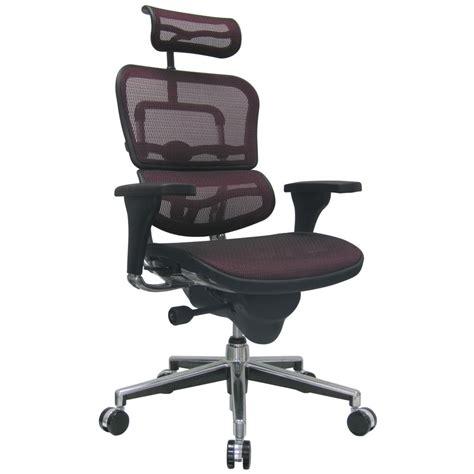 ergo human mesh swivel chair with headrest zuri furniture