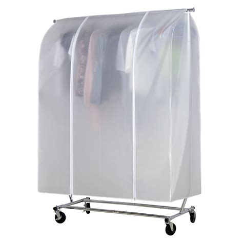 6ft home single clothes rail garment rack protective cover