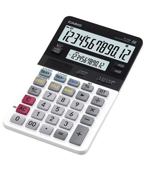 Ronbon Rb2618 Ii Kalkulator 12 Digit casio compact desk type 12 digit calculator jv 220 buy