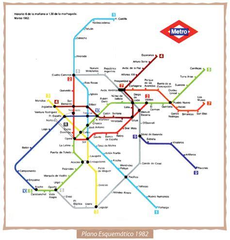 plano metro de madrid evolucion plano metro madrid