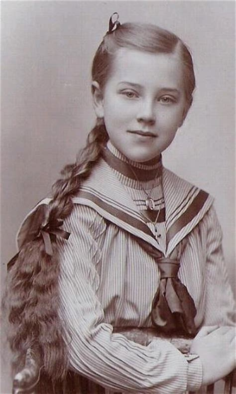 little boy long hair oldfashoined girl in sailor blouse with long braid sailor suits for
