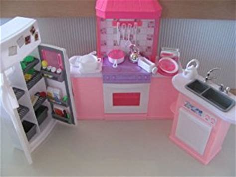 barbie doll house set games amazon com barbie size dollhouse furniture kitchen set toys games