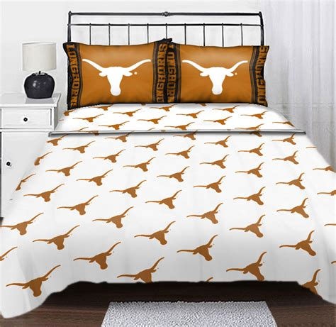 texas longhorn bedroom decor ncaa texas longhorns logo full double sheet set college