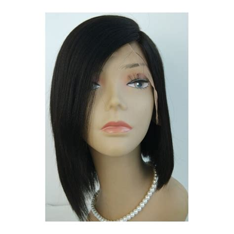 Hairstyle Wigs For by Indian Remy Light Yaki Lace Silk Top Wig With Bob Style