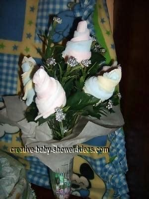 baby sock rose bouquet easy step  step photo instructions