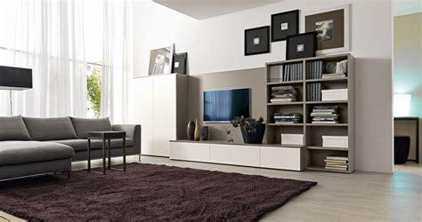 mobili per salotti sistema arredo per salotti con supporto per tv idfdesign