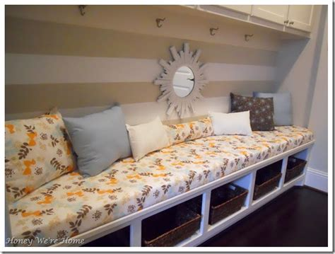 no sew bench cushion cover honey we re home mudroom in progress no sew bench seat
