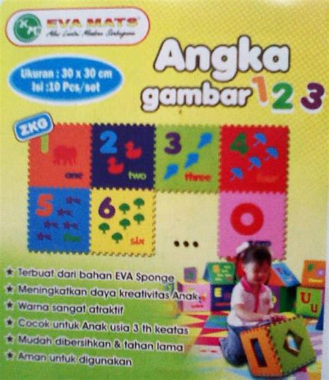 Jual Karpet Karet Alphard karpet puzzle evamat angka gambar toko mainan anak