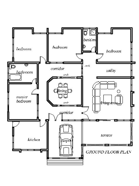 4 Bdrm House Plans by Four Bedroom House Plans Country Style House Plans 3388