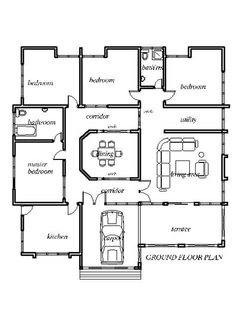4 bedroom house designs homecrack house plans 4 bedroom house plan in house plans