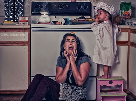photo series shows chaotic of a stay at home