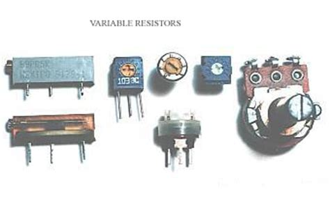 what do variable resistors do variable resistor working specification types and applications