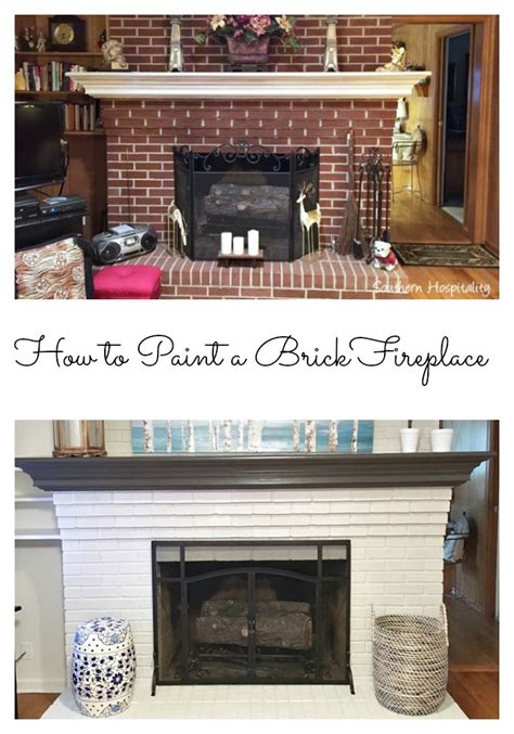 How To Modernize A Brick Fireplace by How To Paint A Brick Fireplace