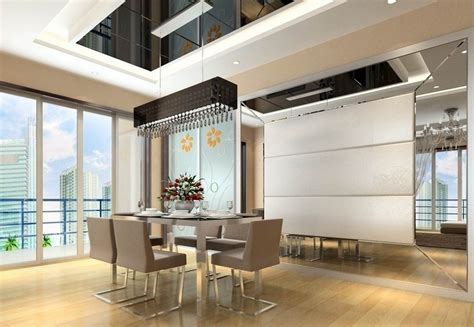 dining room interior design minimalist style 3d