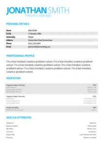 cv template uk free search results for professional letter template