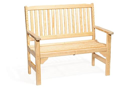 pine wood bench amish pine wood english garden bench