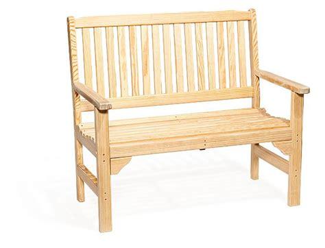 pine garden bench amish pine wood english garden bench