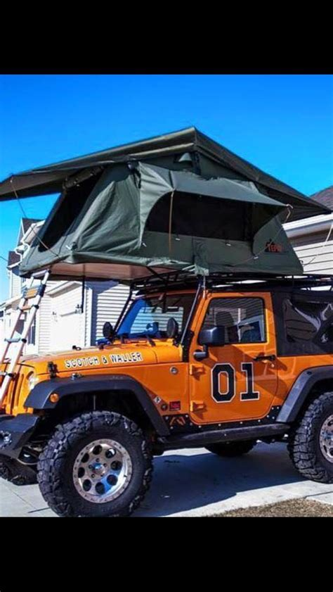 cute jeep wrangler the general lee jeep with a tent on top to boot jeep