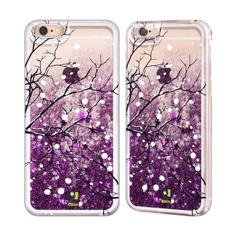 Gliter Water Tsum Iph 5 Iph 6 winter prints purple glitter for apple