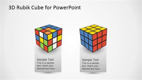 3 dimensional cube template 3d rubik cube powerpoint template slidemodel