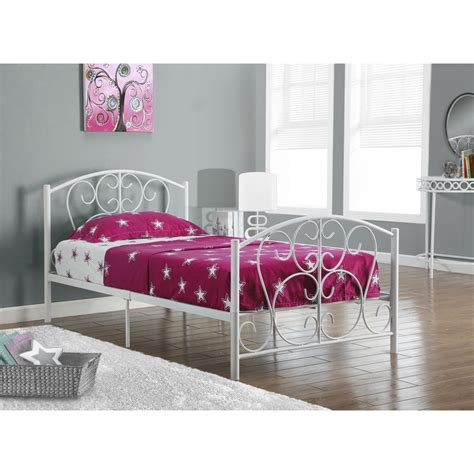 Monarch Specialties I 2390 Metal Monarch Specialties I 2390w White Metal Scroll Size Bed Frame Only