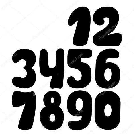 doodle numbers collection of doodle numbers stock vector 169 tanuna