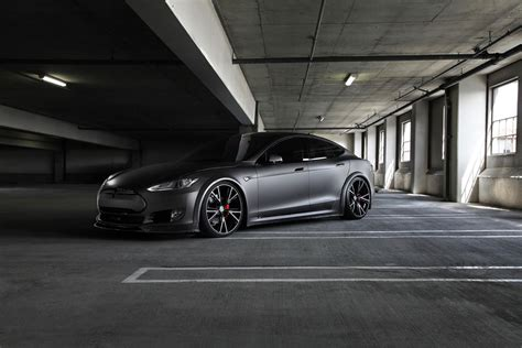 Tesla Rims Get Stealthy With This Tesla Model S On Niche Wheels