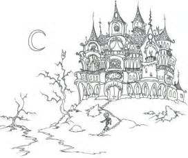 haunted house coloring pages halloween castle coloringstar