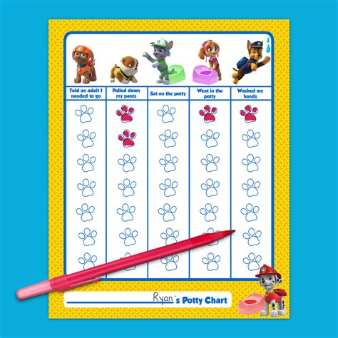 Bathroom Ideas For Teenage Girls by Paw Patrol Potty Training Chart Nickelodeon Parents