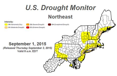 northeast pattern works inc a warm dry end to summer august 2015 weatherworks