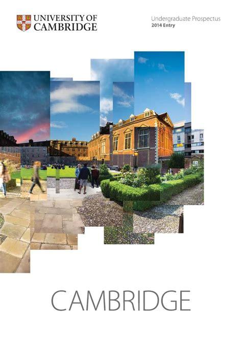 leaflet design cambridge cambridge university undergraduate prospectus 2014