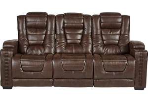 Loveseat With Console Eric Church Highway To Home Chief Brown Power Reclining