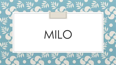 milo office templates