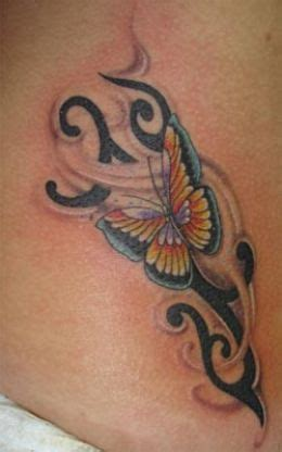 Tattoo Gallery Tribal Butterfly Tattoos Butterfly Tattoos With Tribal