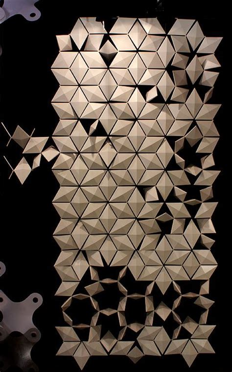 triangle pattern highlights triangle wall installation one net screens overlapping