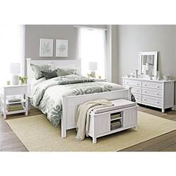 brighton white bed i crate and barrel bedrooms