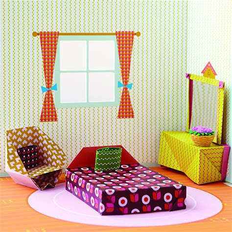 How To Make A Big Origami - origami playhouse paper craft dollhouse origami
