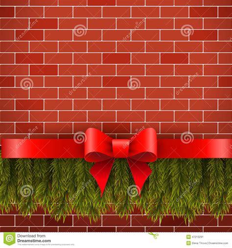 hanging christmas lights on brick walls christmas decorations stock photo image 47213291