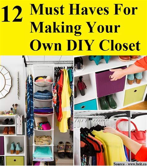 Must Haves In Your Closet by 12 Must Haves For Your Own Diy Closet Home And