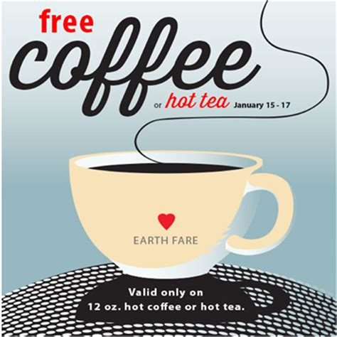 earth fare free 12oz coffee or tea 7 off 30