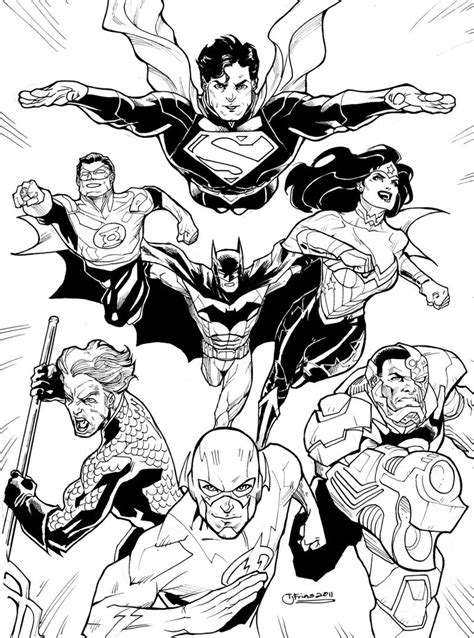 coloring pages of justice league dcnu justice league 2011 by guinnessyde on deviantart