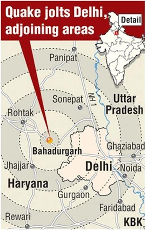 earthquake zone of delhi earthquake jolts delhi ncr 5 injured rediff com india news