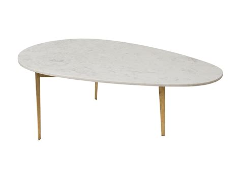 kidney bean marble coffee table with gold leaf corso de