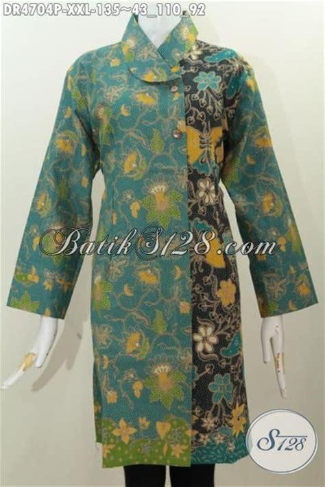 Baju Kurung Hijau Hitam sedia baju batik hijau kombinasi hitam motif bunga dan kupu dress batik kerah miring proses