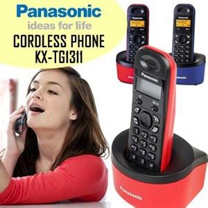 Dijamin Panasonic Cordless Phone Kx Tgd310cx jual panasonic cordless phone kx tg1311 telepon wireless