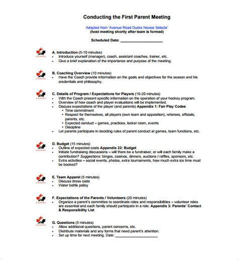 image gallery meeting outline