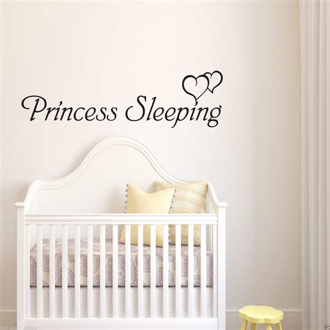 girls bedroom transfers princess sleeping girls nursery bedroom wall art sticker